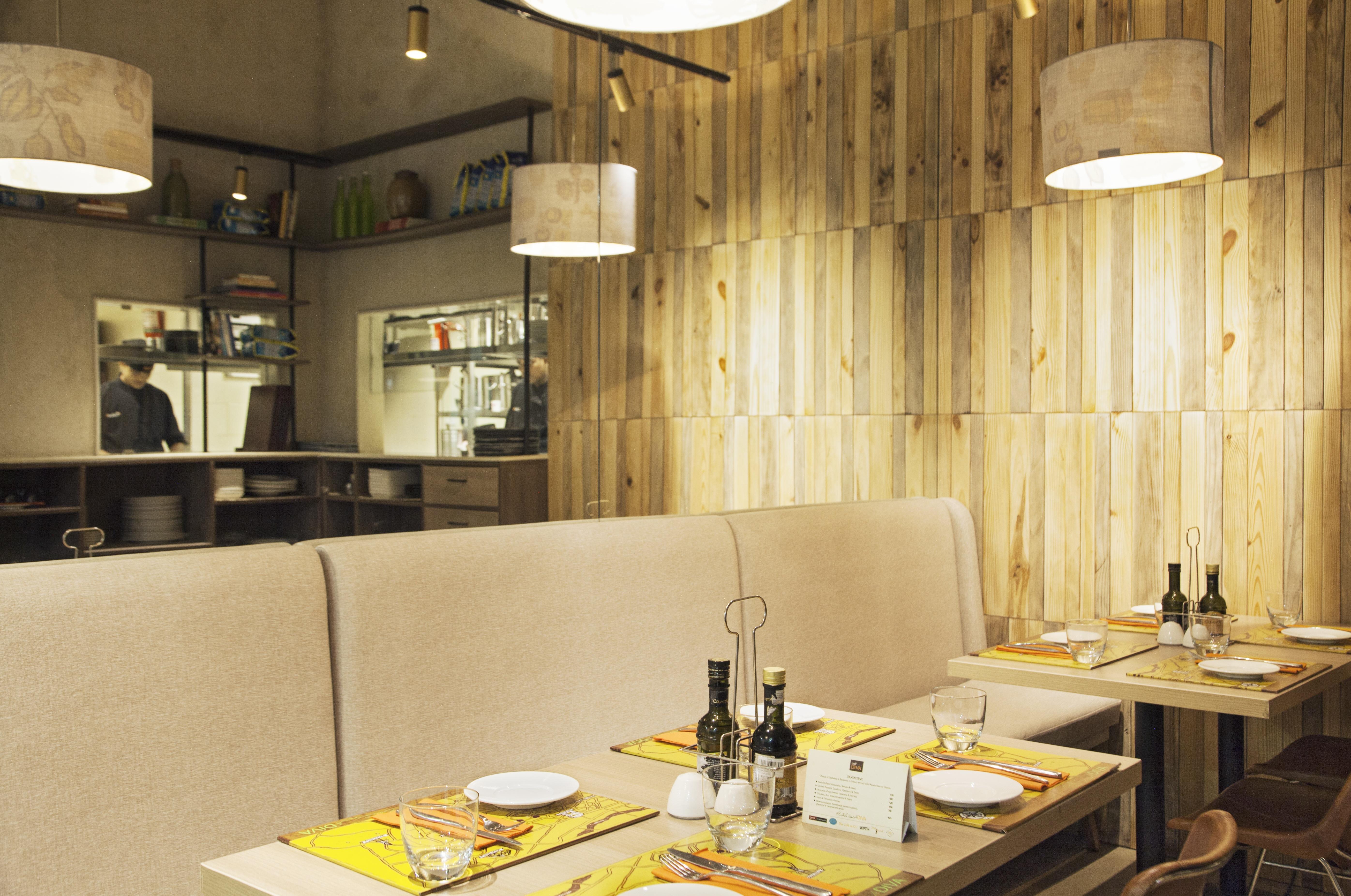 Interior with kitchen